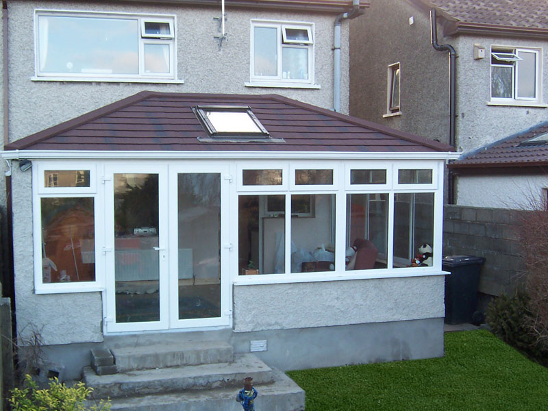 Metro tiles guardian conservatory roofs for Double hip roof design